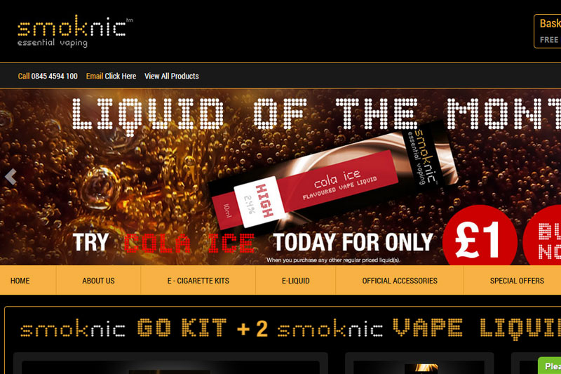 Smoknic.co.uk :: Website designed by Webcomforts