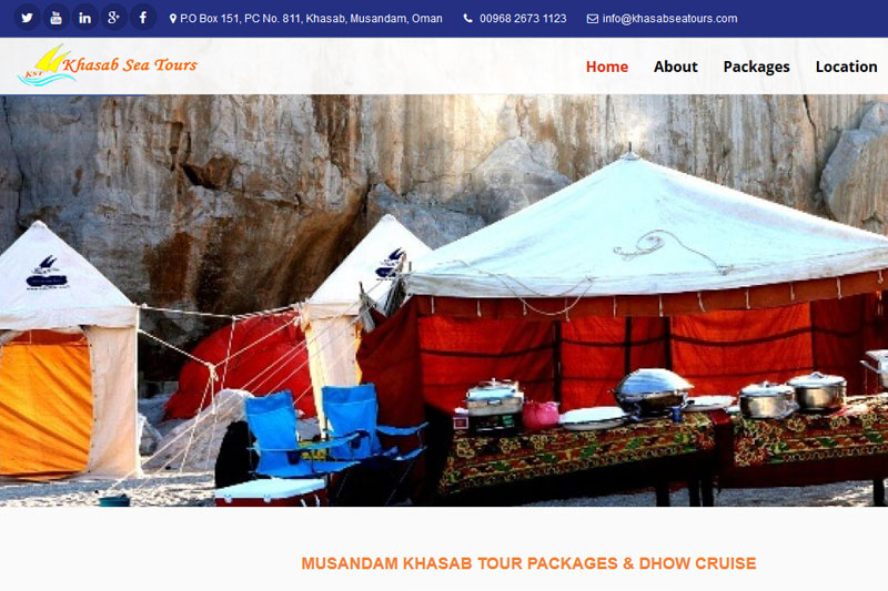 Khasab Sea Tours :: Website designed by Webcomforts