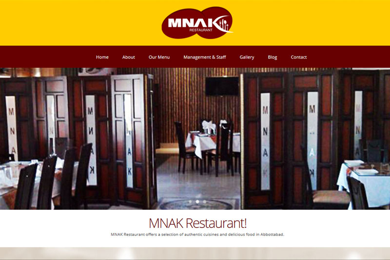 MNAK Restaurant Abbottabad :: Website designed by Webcomforts