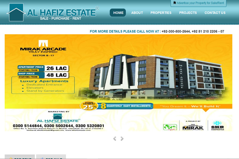 Al Hafiz Estate :: Website designed by Webcomforts