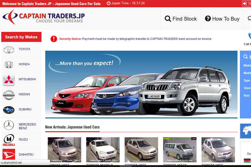 Captain Traders.JP  :: Website designed by Webcomforts