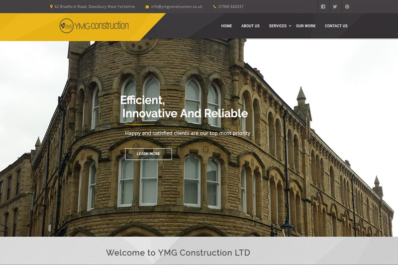 YMG Construction  :: Website designed by Webcomforts