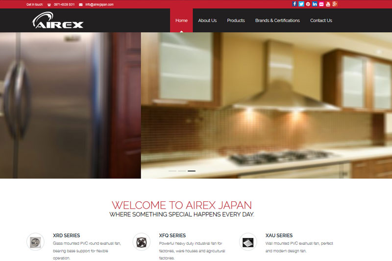 AIREX Japan :: Website designed by Webcomforts