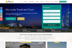 Skylords Travel & Tours - Web Design