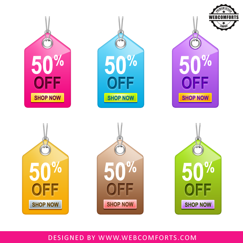 Free download sale tag vector